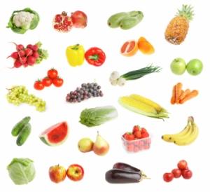 freshs fruit andvegetables