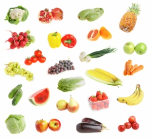 freshs fruit andvegetables